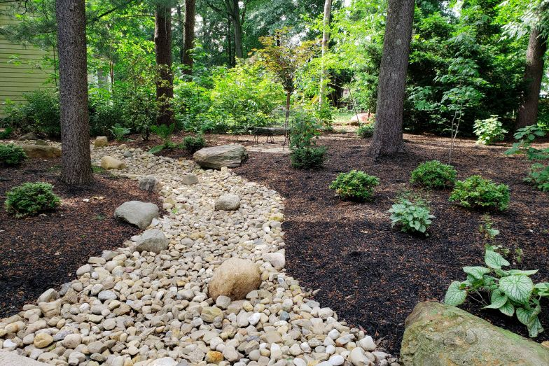 Drainage/Dry Creek Beds » French Drain Installation | Backyard Drainage | Dry  River Beds | Landscapes by Terra